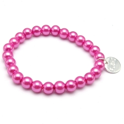 Armband glasparel roze