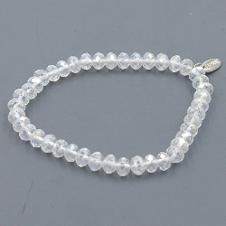 Armband facet 8mm (crystal)