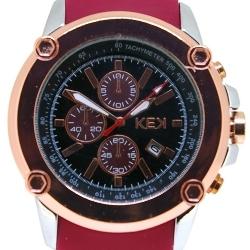 KEK horloge unisex rood/zwart