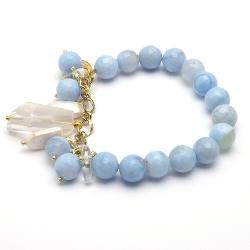Armband met bedels blue lace