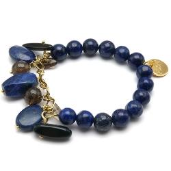 Armband met bedels lapis lazuli