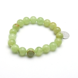 Armband halfedelsteen new jade 10mm