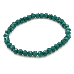 Armband facet 6mm (emerald)