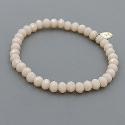 Armband facet 6mm (nude)