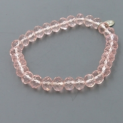 Armband facet 8mm (transparant roze)