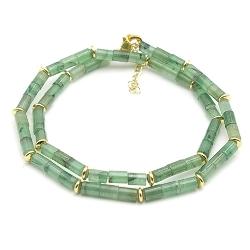 Ketting kort halfedelsteen jade