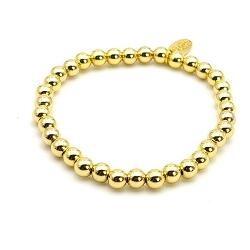 Armband 6mm 14 krt goud