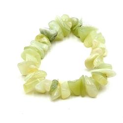 Armband halfedelsteen chips new jade