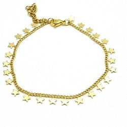 Armband goud sterretjes (3 stuks)
