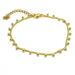 Armband goud balletjes (3 stuks)