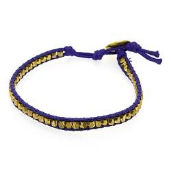 Armband touw paars met...