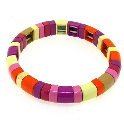 Armband emaille tegel rond...