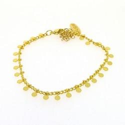 Armband goud rondje (3 stuks)