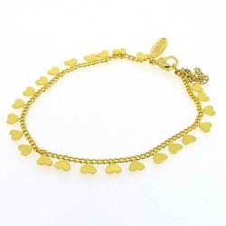 Armband goud hartje (3 stuks)