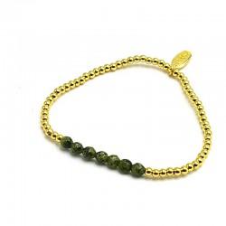 Armband 14krt met dyed jade...