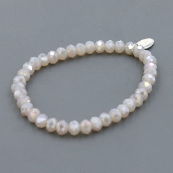 Armband facet 6mm (nude AB)
